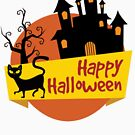 Happy Halloween Spooky Cat and Castle for Babies and Kids! by Banshee-Apps