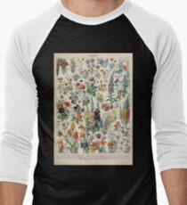 Adolphe Millot fleurs A Baseball ¾ Sleeve T-Shirt