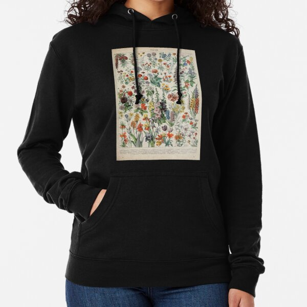Adolphe Millot fleurs A Lightweight Hoodie