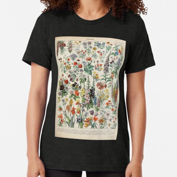Adolphe Millot fleurs A Tri-blend T-Shirt