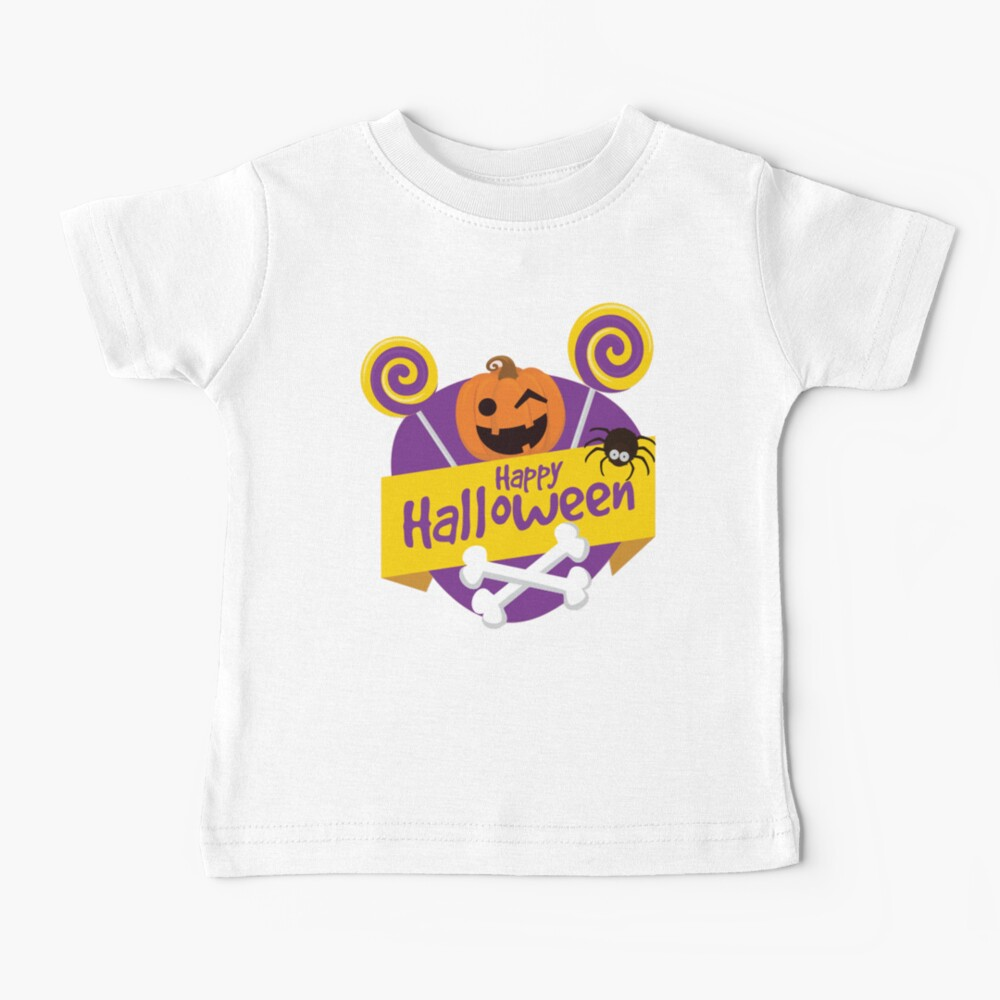 Funny Halloween Pumpkin for Babies and Kids! Baby T-Shirt