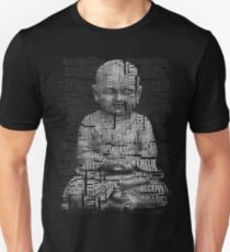 Buddha With Love, Positive Thinking Text T-Shirt