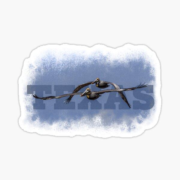 Pelicans flying Sticker