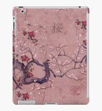 Japanese Sakura Print with Kanji iPad Case/Skin