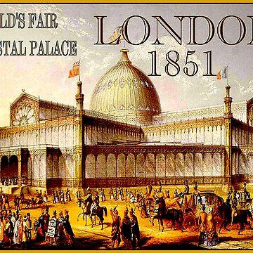 LONDON: Weinlese-Weltausstellung-Werbungs-Druck 1851 von posterbobs