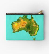 Australia Physical Map Studio Pouch