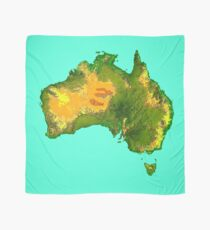 Australia Physical Map Scarf