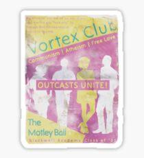 Old Vortex Club poster Sticker