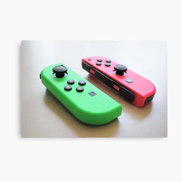 Pink and Green Joycon - Left Canvas Print