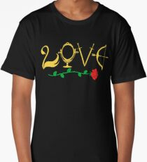 Love Fairytale Lettering Long T-Shirt