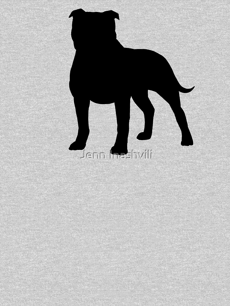 Staffordshire Bull Terrier Silhouette(s) by ShortCoffee