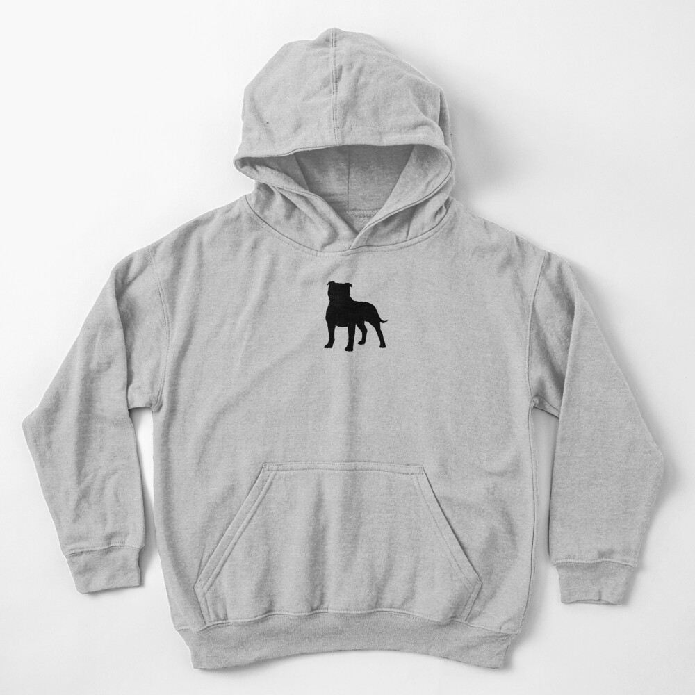 Staffordshire Bull Terrier Silhouette(s) Kids Pullover Hoodie