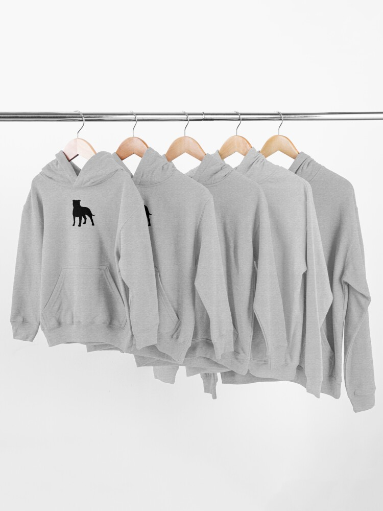 Alternate view of Staffordshire Bull Terrier Silhouette(s) Kids Pullover Hoodie