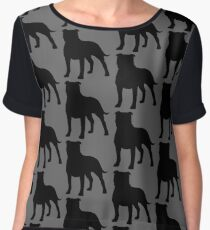 Staffordshire Bull Terrier Silhouette(s) Chiffon Top