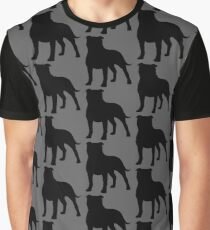 Staffordshire Bull Terrier Silhouette(s) Graphic T-Shirt