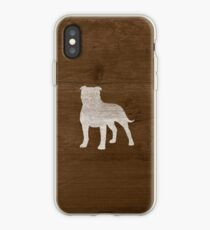 Staffordshire Bull Terrier Silhouette (s) Coque et skin iPhone