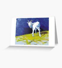 Strike A Pose - Amusing Acrylic Goat Painting Greeting Card