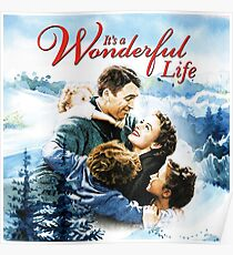 It's a Wonderful Life scene Poster