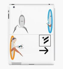 Portal 2 - Chell running from Turret to Cake iPad Case/Skin