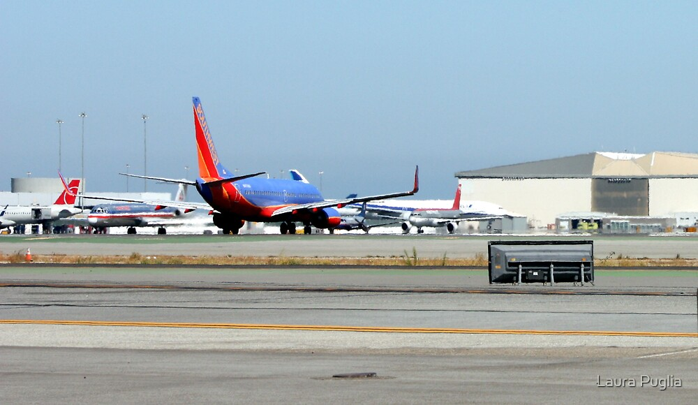 SWA Boeing 737 Lining Up For Take Off by Laura Puglia