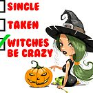 Funny Witch tshirt by Banshee-Apps