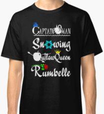 ships (white text) Classic T-Shirt