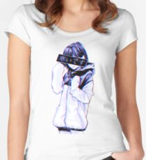 COLD - Sad Japanese Aesthetic Women's Fitted Scoop T-Shirt