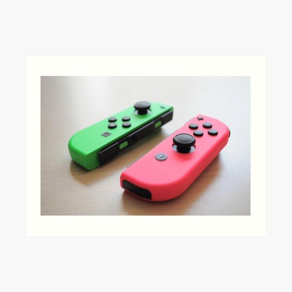 Pink and Green Joycon - Right Art Print