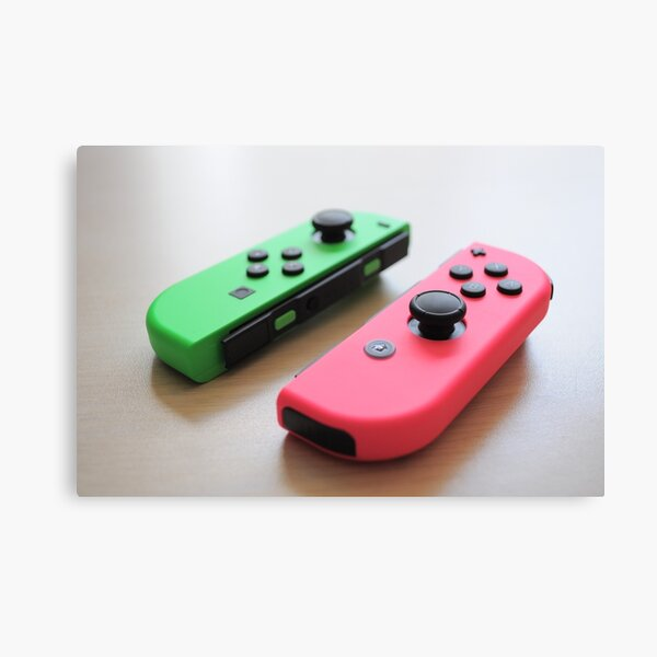 Pink and Green Joycon - Right Canvas Print