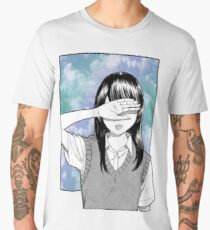 Lonely girl sad aesthetic no text Men's Premium T-Shirt