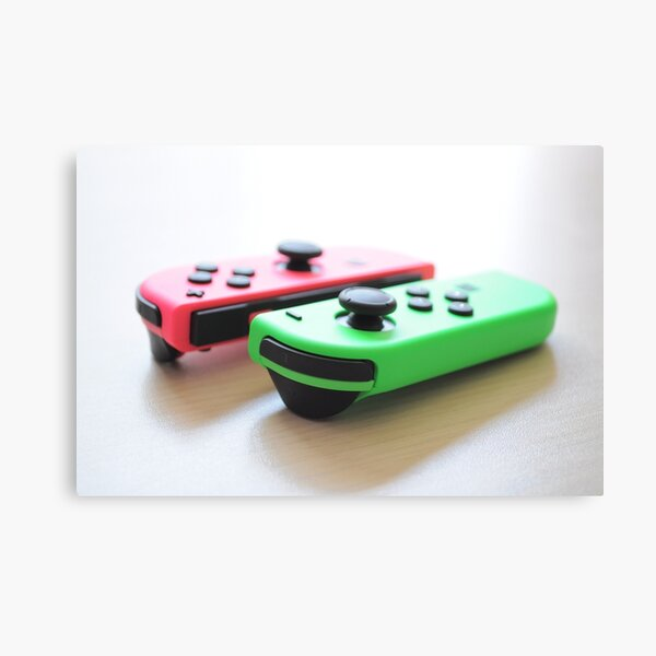 Pink and Green Joycon Canvas Print