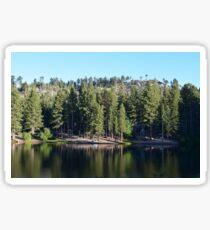 On the lake  Sticker