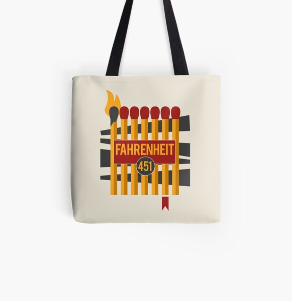 Don't Burn, Read Them All Over Print Tote Bag