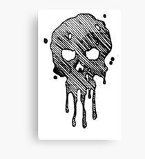 Chloe Art Dripping Skull  Canvas Print