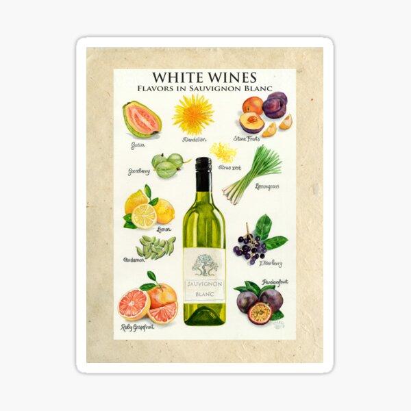 WHITE WINES - FLAVORS IN SAUVIGNON BLANC Sticker