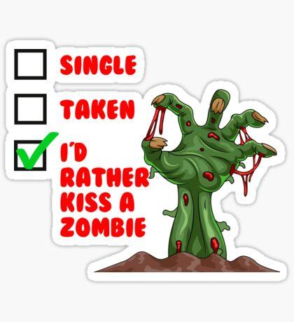 Funny Zombie tshirt Sticker