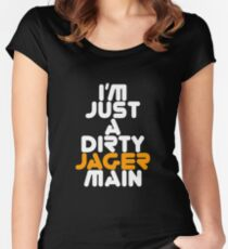 I Main Jager Rainbow Six Siege White Text Women's Fitted Scoop T-Shirt
