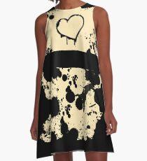 Inky Hearts A-Line Dress