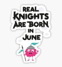 Monster Knights born in June person-Design Sticker