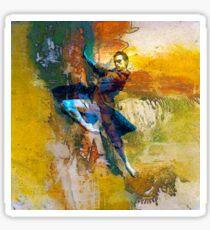Abstract dancer Sticker