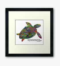 Goenka Ji Meditation Turtle Framed Print