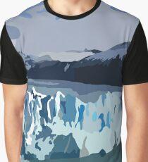 Perito Moreno Glacier Digitized Image Graphic T-Shirt