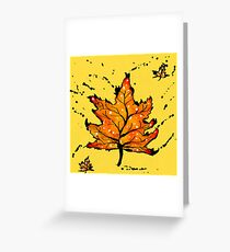 Inky leaves Greeting Card