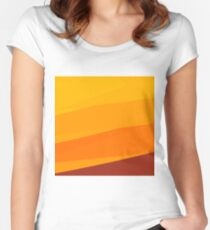 Orange unconventional symbolic sun Women's Fitted Scoop T-Shirt