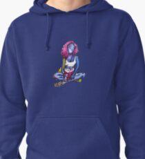 blue girl Pullover Hoodie