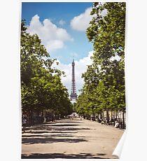 Eiffel Tower Walkway Poster