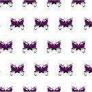Guns and Roses Purple (Pattern) by Adam Santana