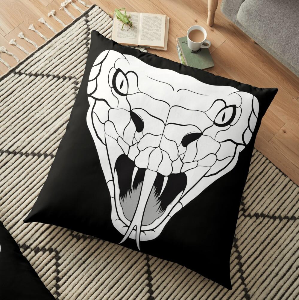 Snake head line-art Floor Pillow
