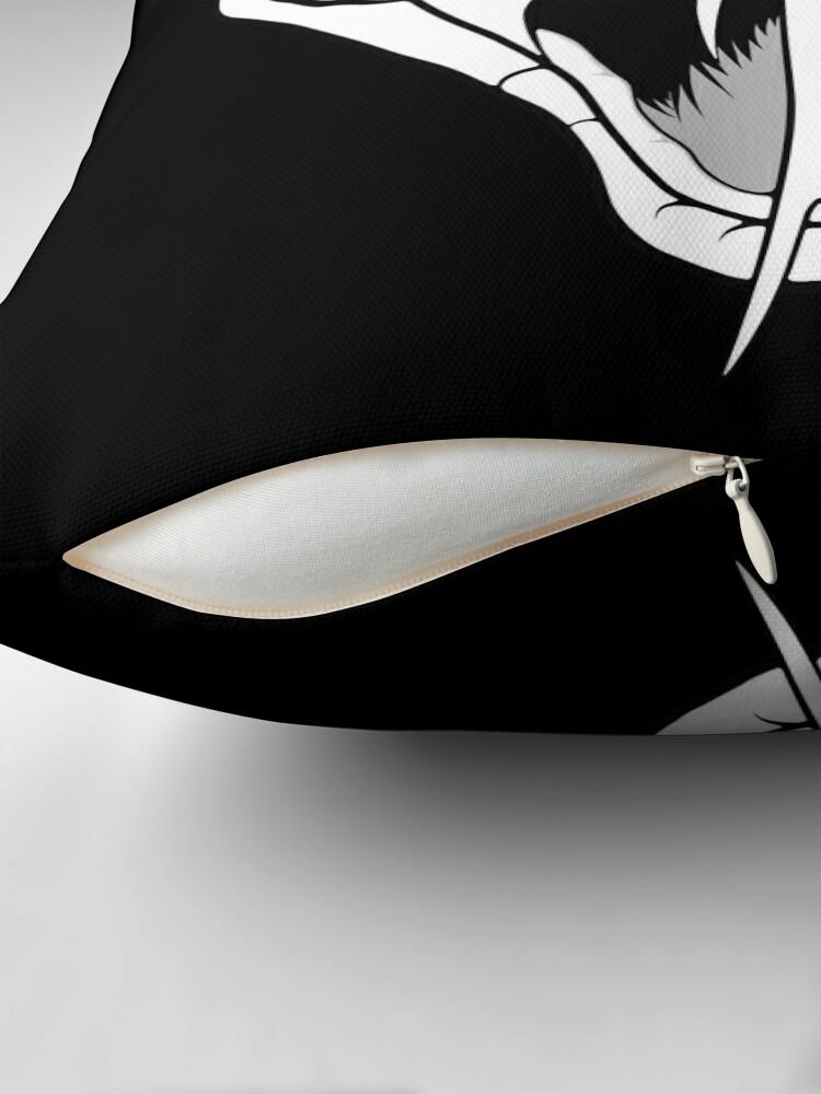 Alternate view of Snake head line-art Floor Pillow
