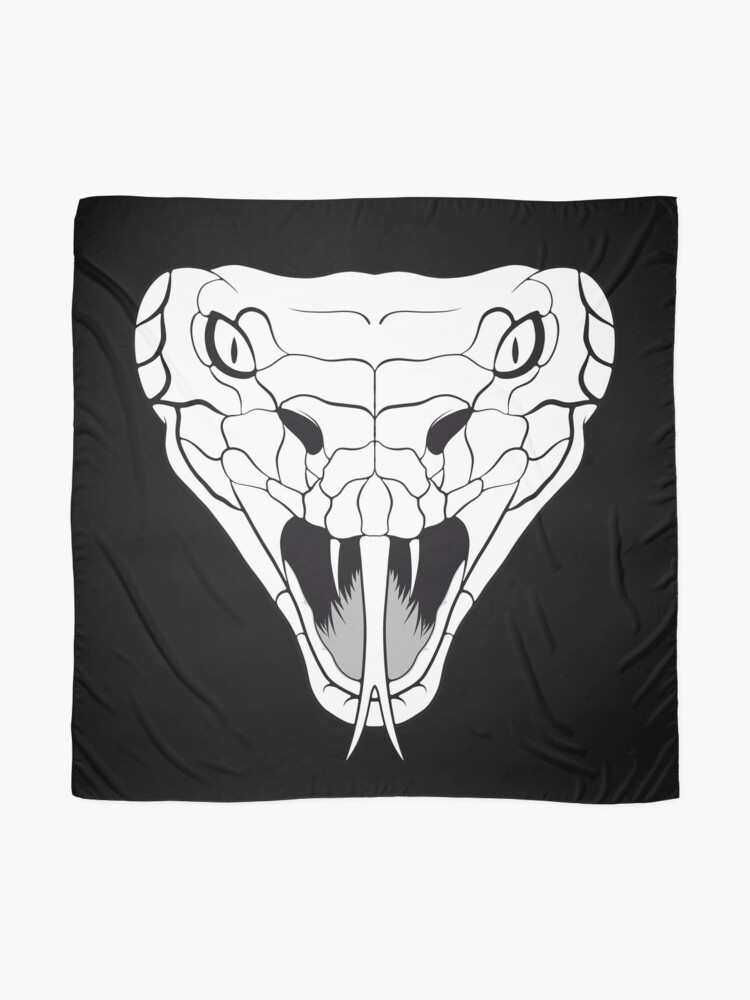 Alternate view of Snake head line-art Scarf